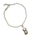 queen charm bracelet with card