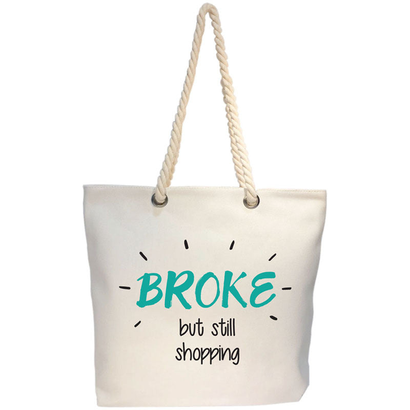 broke canvas bag