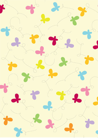 butterfly swirls gift wrapper (10 sheets)
