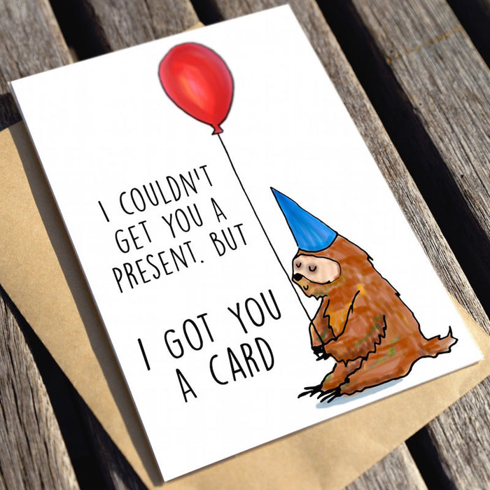 no present card only greeting card
