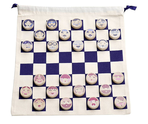 mesdames & messieurs checkers set