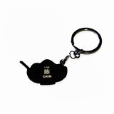 chin - badge keyring