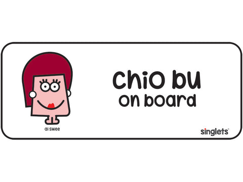 chio bu car decal