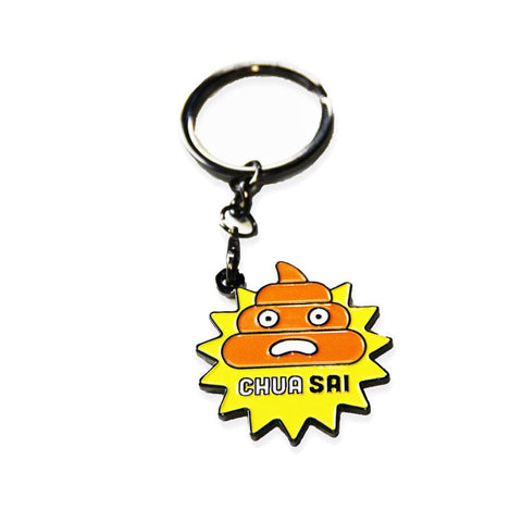 chua - badge keyring