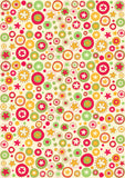 circle floral gift wrapper (10 sheets)