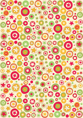 Gift wrappers tags amebastuff circle floral gift wrapper 10 sheets negle