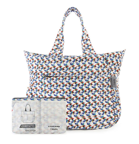compatto shopper bag by mendini colourful