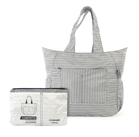 compatto shopper bag by mendini white