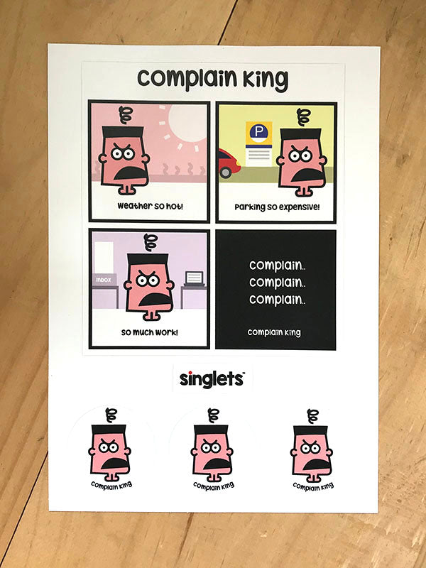 complain king sticker set