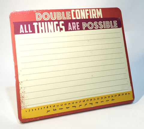 double confirm memo mousepad