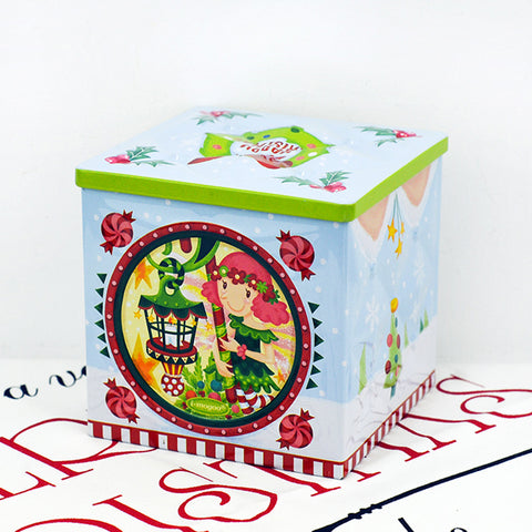 lamp girl cube gift tin