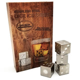 dice metal ice cubes