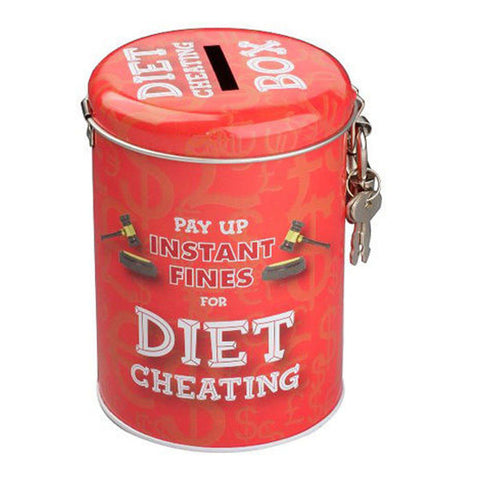diet cheating savings tin