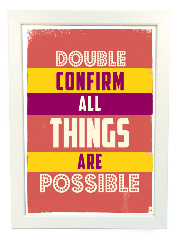 double confirm all things are possible poster