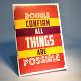 double confirm all things are possible notebook