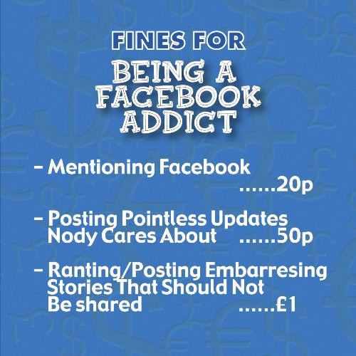 facebook addict fine savings tin