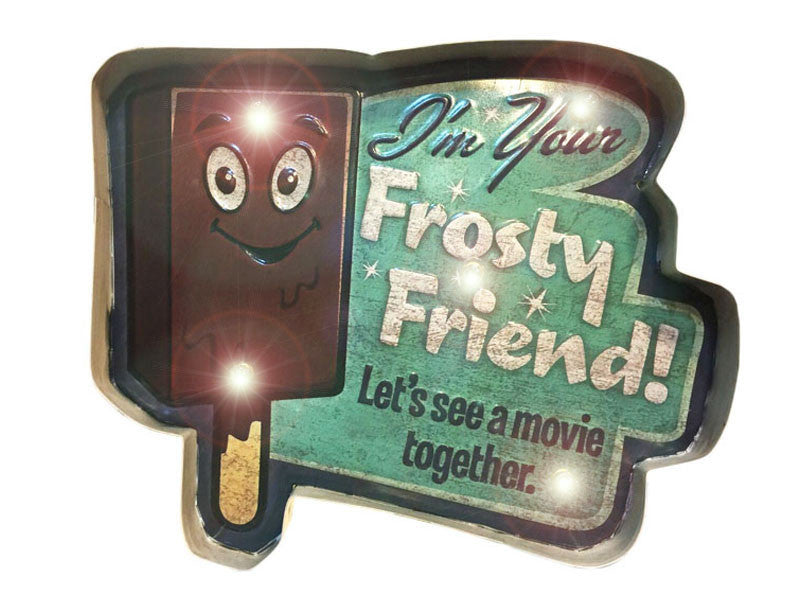 frosty friend retro sign