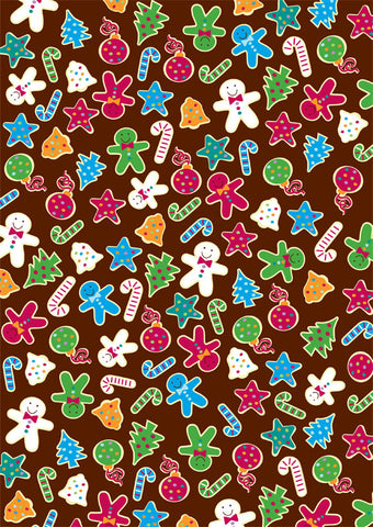 gingerbread gift wrapper (10 sheets)