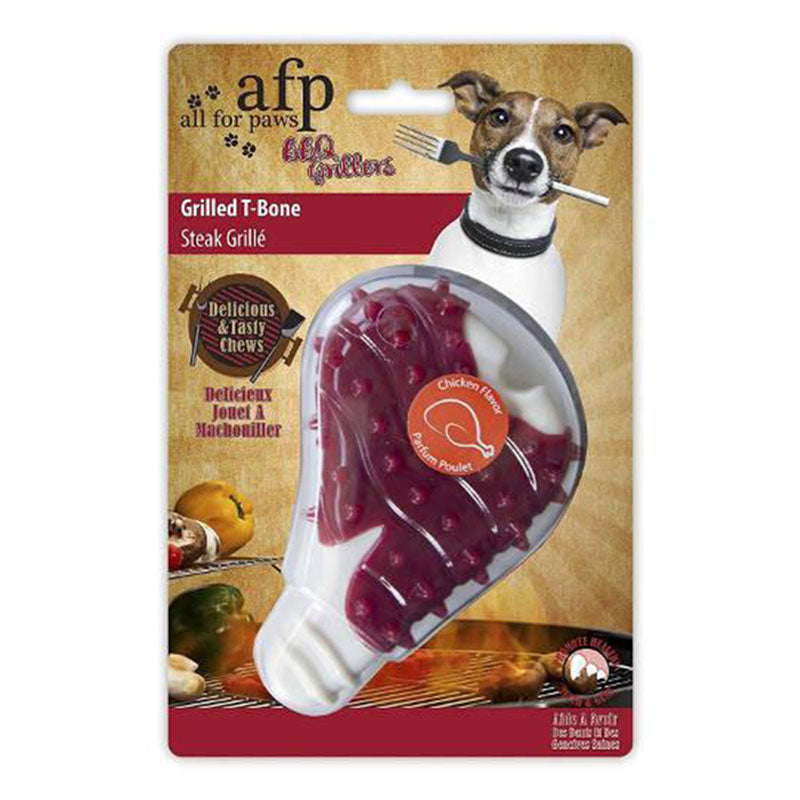 grilled t-bone chew toy