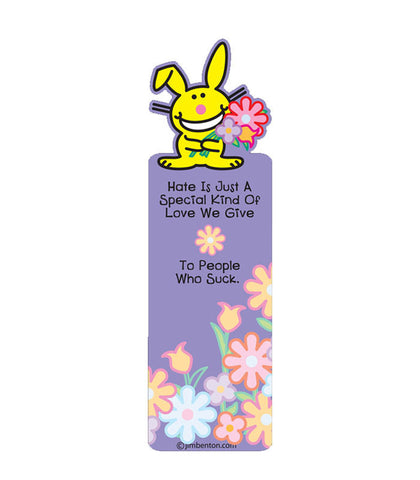 happy bunny bookmark hate