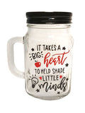 big heart mason jar