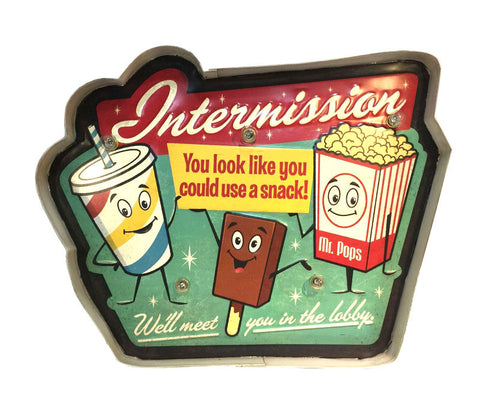 intermission retro sign