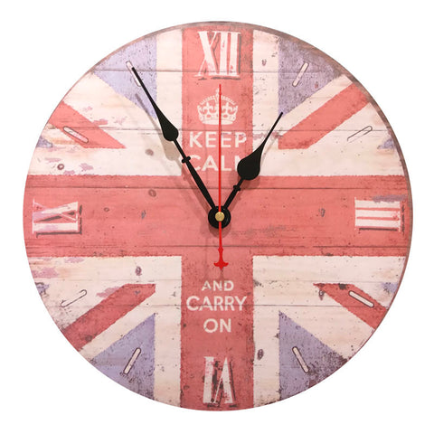 wall clock keep calm
