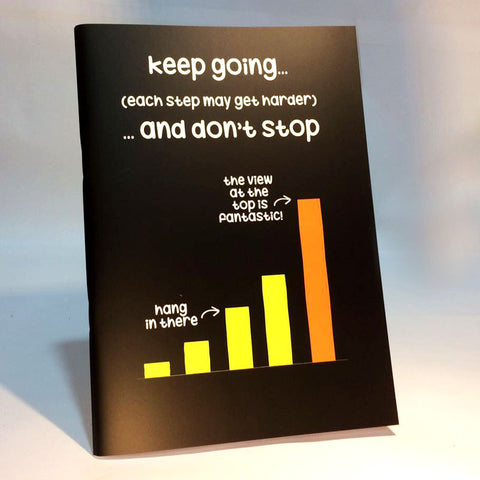 keep going notebook