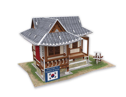 puzzle 3D korea traditional residence