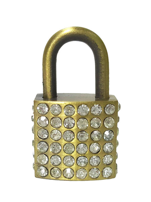 faux crystals miniature lock