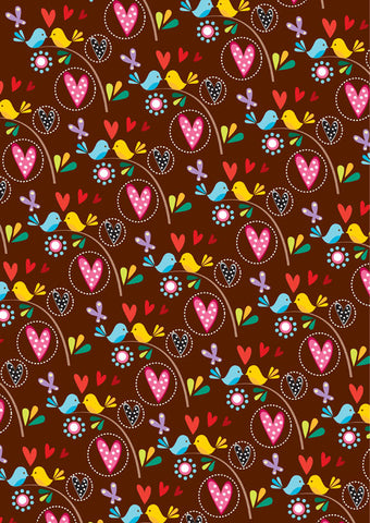 love birds gift wrapper (10 sheets)