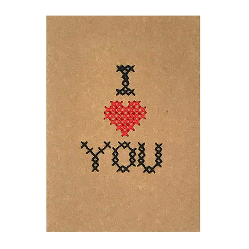 custom cross stitch card