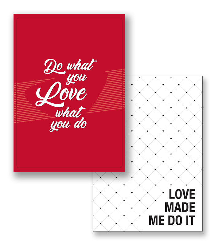 love set of 2 notebooks