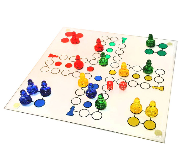 glass ludo set