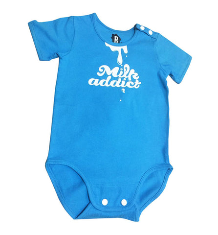 milk addict blue baby tee