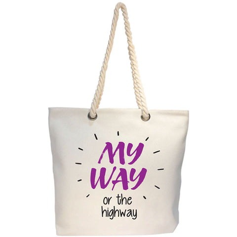 my way tote bag