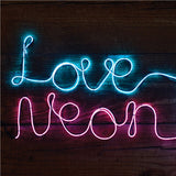 make your own neon light white