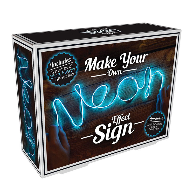 make your own neon light blue