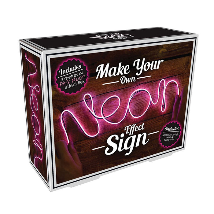 make your own neon light pink