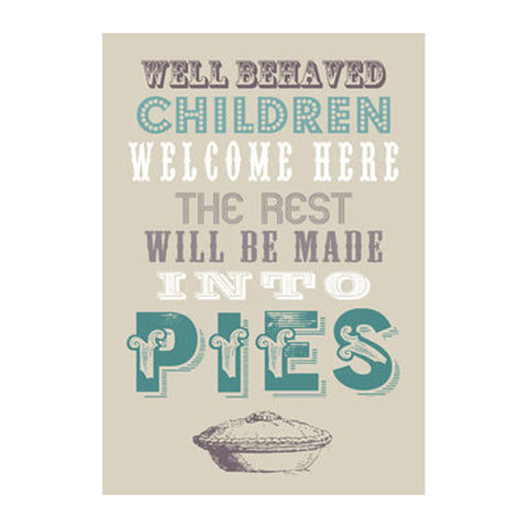 pies tea towel