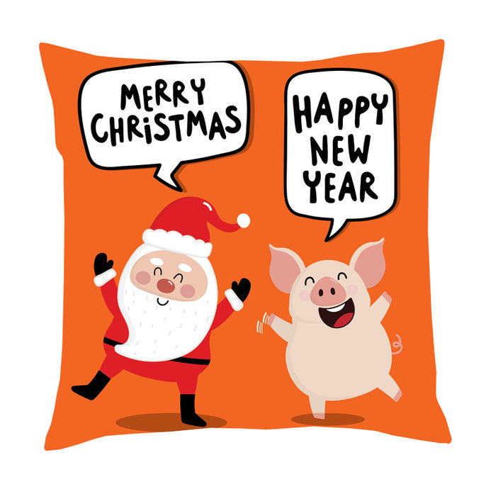 santa and pig cushion