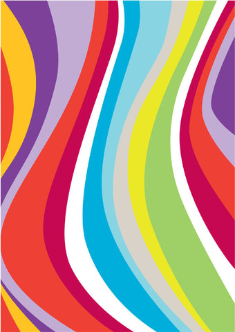 rainbow wave gift wrapper (10 sheets)