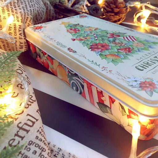 christmas tree gift tin