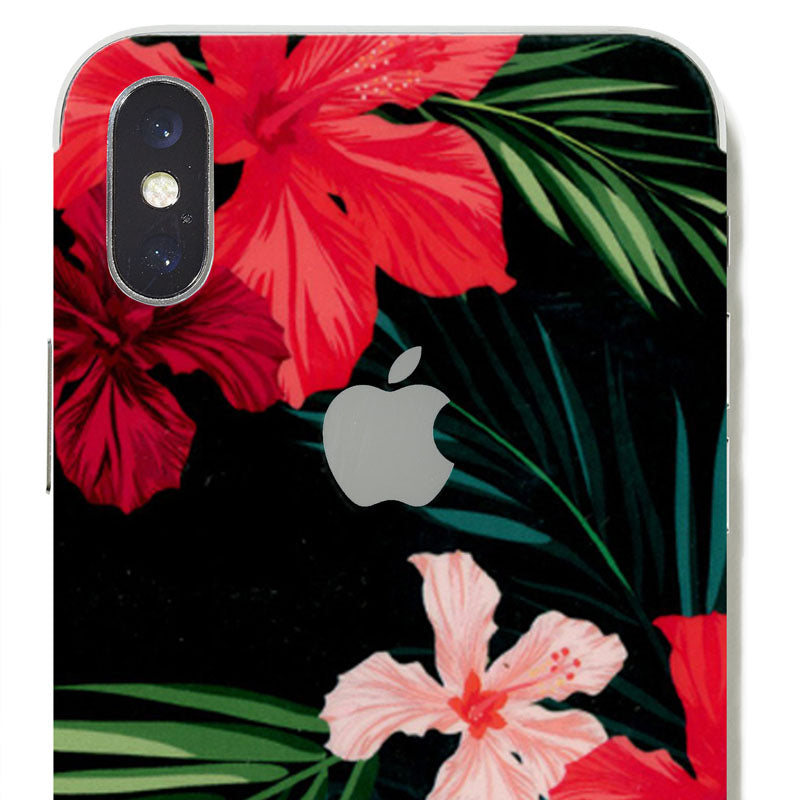 red floral skin