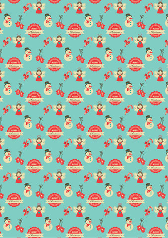 retro christmas gift wrapper (10 sheets)