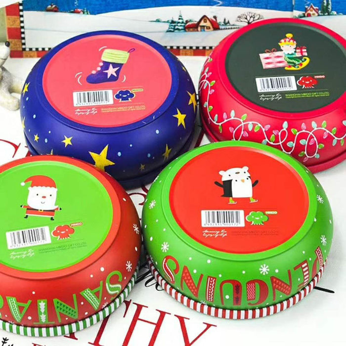 penguin round gift tin