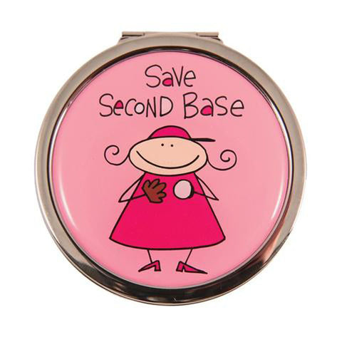 save second base compact mirror