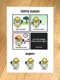selfie queen sticker set