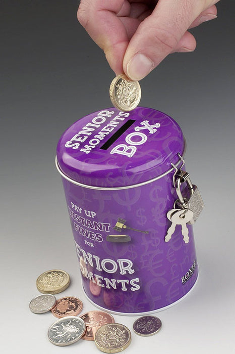 new shoes fund savings tin