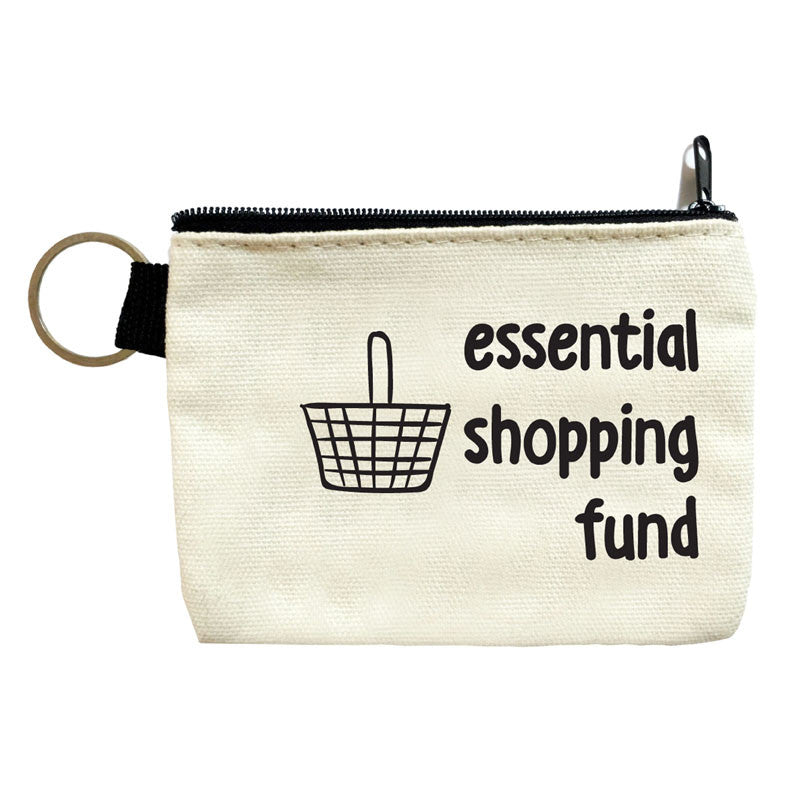 essential shopping fund coin pouch